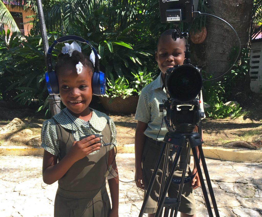 Kids in Haiti on a video shoot